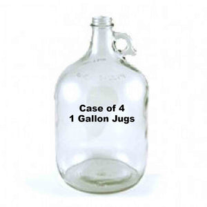 1 Gallon Clear Glass Jugs Case Of 4 Specialty Bottles