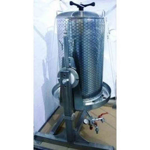 170 Liter Bladder Press W Tilting Frame All Stainless Wine Presses