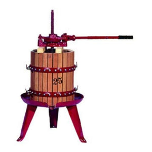 # 25 Fratelli Marchisio Wood Basket Wine Press Pre Order FEB-MAR - Ships APR to AUG Manual Wine Presses