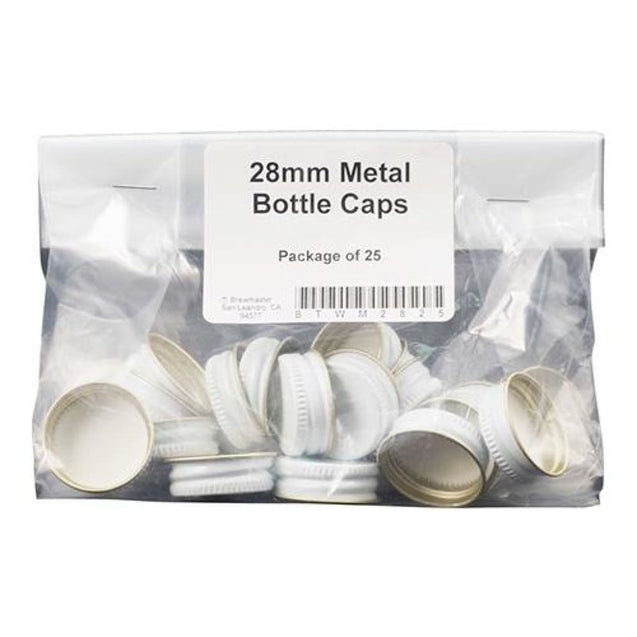 28Mm Metal Screw Cap Qty 25 Bottle Stoppers And Screw Caps
