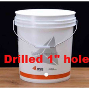 7.8 Gallon Bucket Only Drilled For Spigot Fermenter Buckets
