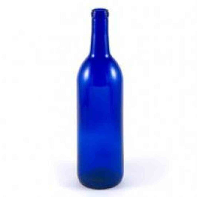 750 Ml Cobalt Blue Bordeaux Bottle Case Of 12 Bottles