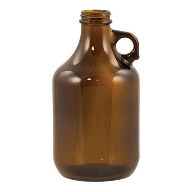 Amber Growler 32 Oz 38 Mm Screwtop Qty 12 Growlers