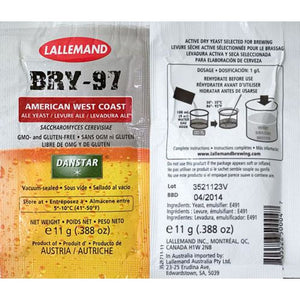 American West Coast Ale Yeast Bry-97 11 Grams Dry Ale Yeast