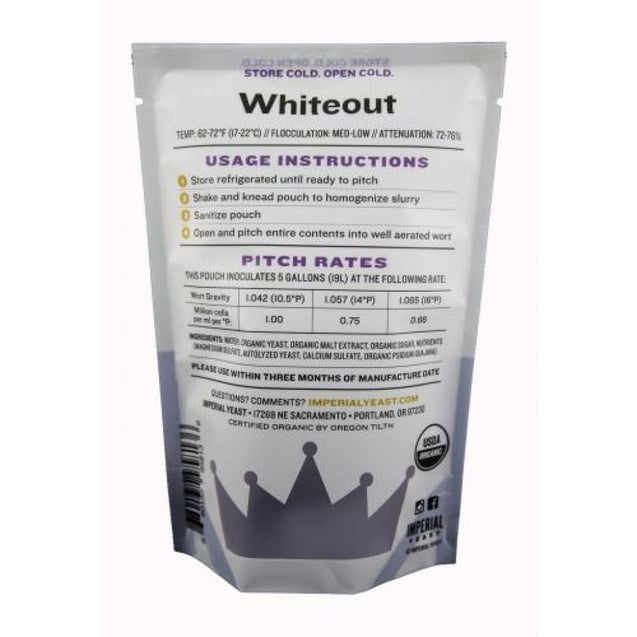 B44 Whiteout Imperial Organic Liquid Yeast Imperial Organic Yeast