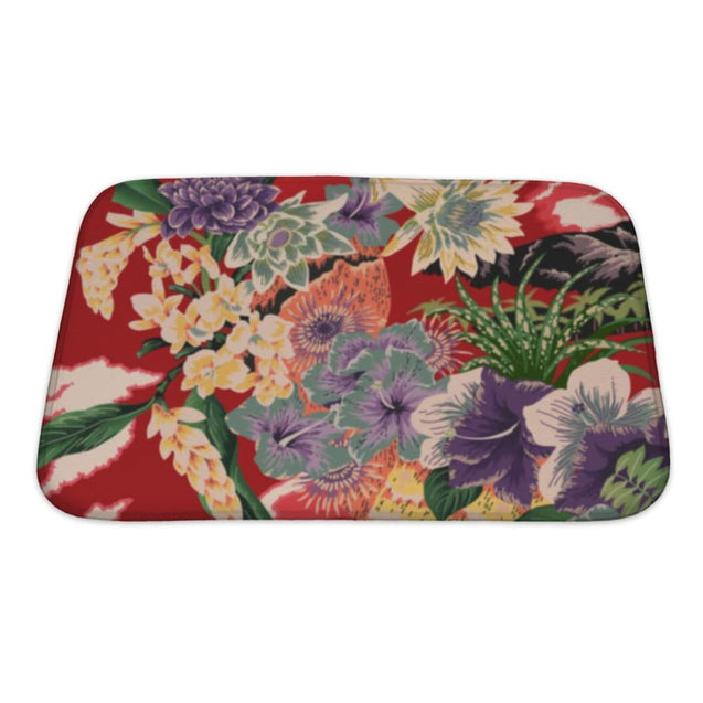 Bath Mat Vintage Hawaiian Kimono Dress Bath Mat