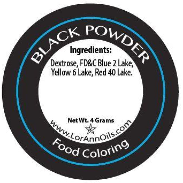 Black Powder Food Color By Lorann Flavor Oils Spices And Flavorings