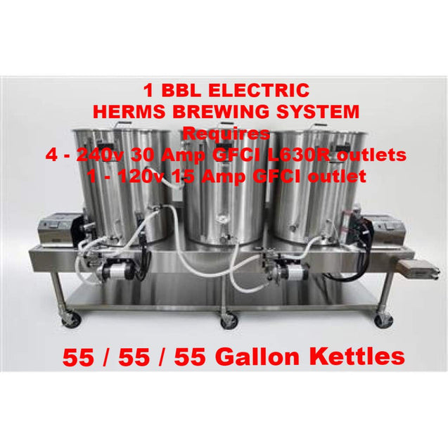 Blichmann Horizontal All Grain Brewing System 1 Bbl Batch Size / Electric Turnkey / Herms