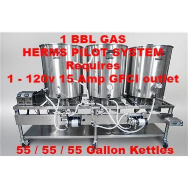 Blichmann Horizontal All Grain Brewing System 1 Bbl Batch Size / Gas Turnkey / Herms