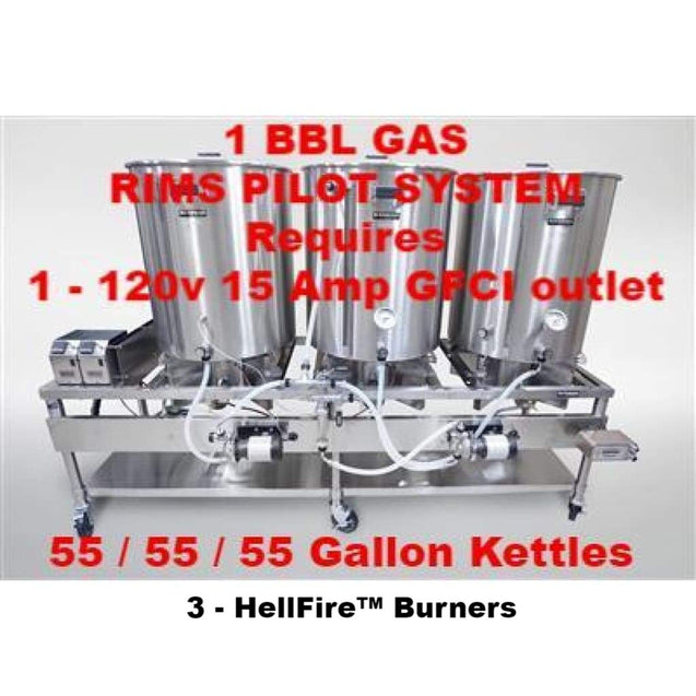 Blichmann Horizontal All Grain Brewing System 1 Bbl Batch Size / Gas Turnkey / Rims