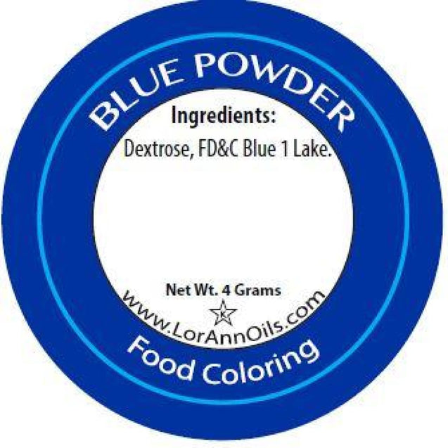 Blue Powder Food Color By Lorann Flavor Oils Spices And Flavorings