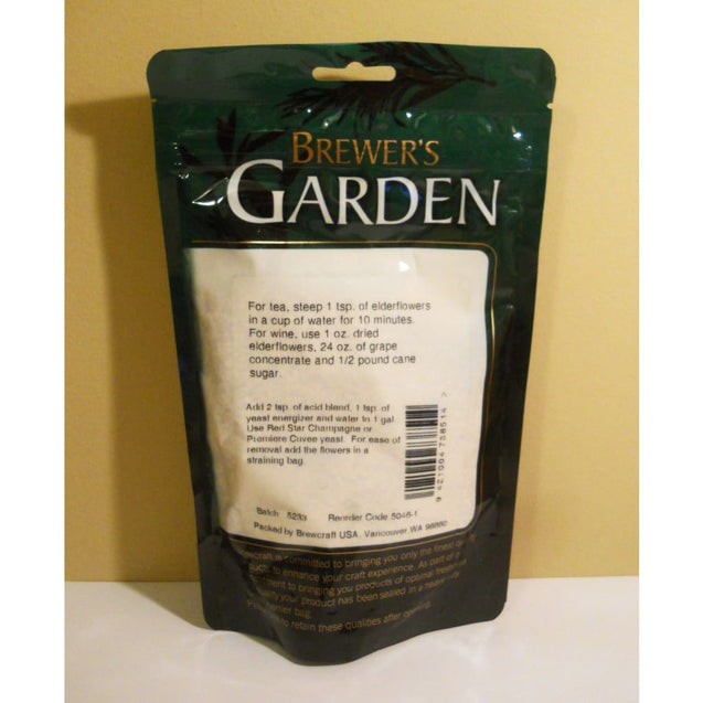 Brewers Garden Dried Elderflowers - 2 Oz Package Spices And Flavorings
