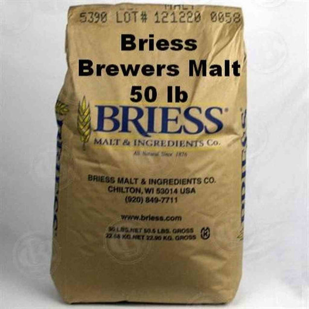 Briess 2 Row Brewers Malt 1.8L 50 Lb Bag Grain