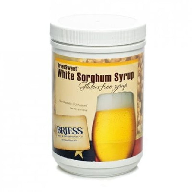 Briess Cbw Briessweet White Sorghum Syrup Lme 3.3 Lb Liquid Malt Extract (Lme)