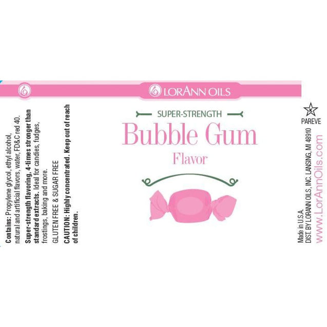 Bubble Gum Flavor By Lorann Flavor Oils Spices And Flavorings