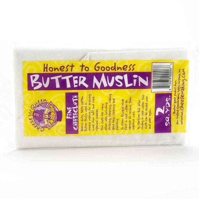 Butter Muslin-For Draining Soft Cheese 2Yd Package Cheese Making