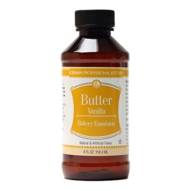 Butter Vanilla Bakery Emulsion By Lorann Flavor Oils 4 Oz Spices And Flavorings