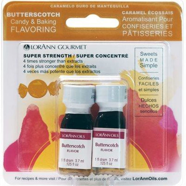 Butterscotch Flavor By Lorann Flavor Oils Qty 2-1 Dram Spices And Flavorings