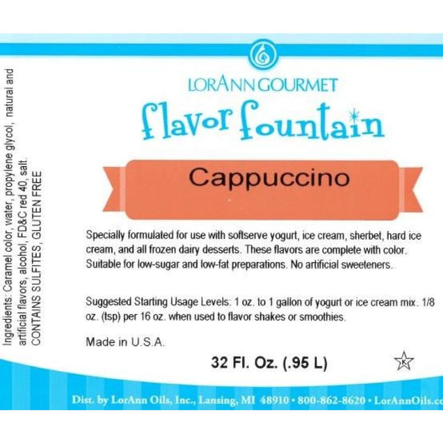 Cappuccino By Lorann Flavor Fountain Spices And Flavorings
