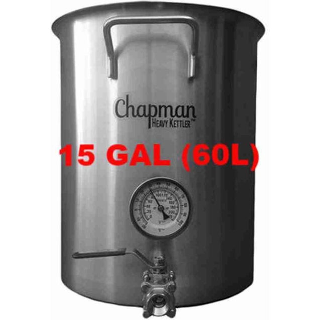 Chapman Heavy Kettle Brew Pot 15 Gal (60L) Brewing And Boiling Pots