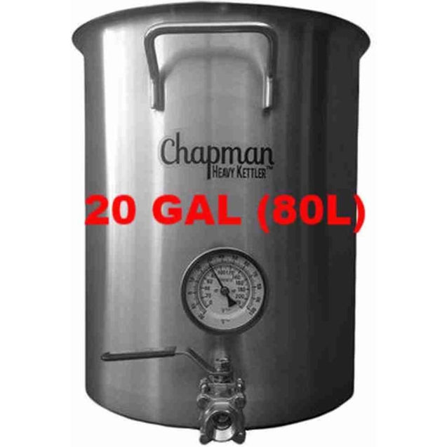 Chapman Heavy Kettle Brew Pot 20 Gal (80L) Brewing And Boiling Pots