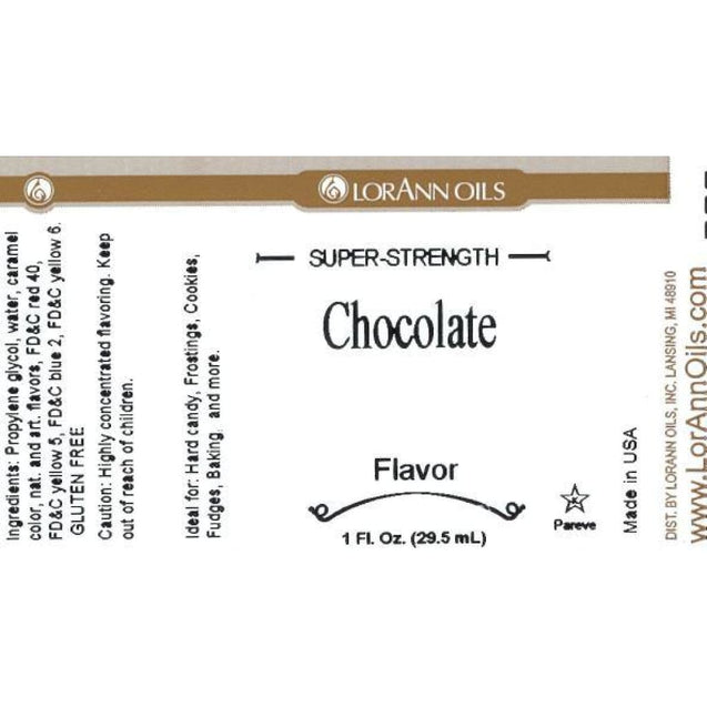 Chocolate Flavor By Lorann Flavor Oils Spices And Flavorings
