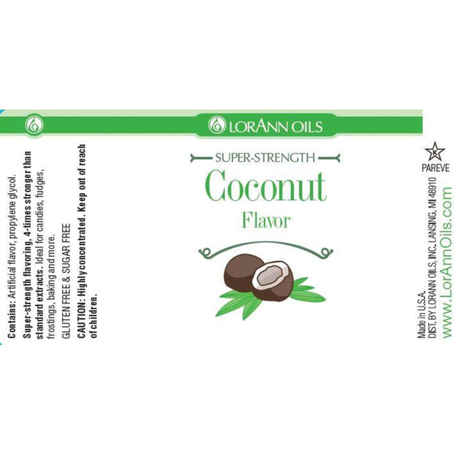 Coconut Flavor Flavor By Lorann Flavor Oils Spices And Flavorings