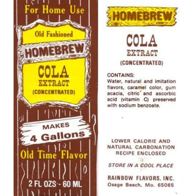 Cola Soda Extract 2 Fl Oz Rainbow Flavors Soft Drink Soda Extracts