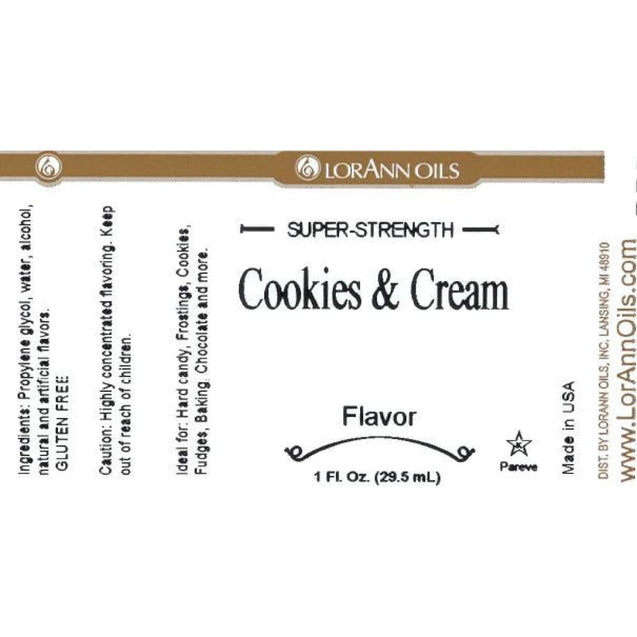 Cookies & Cream Flavor By Lorann Flavor Oils Spices And Flavorings