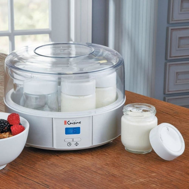 Euro Cuisine Automatic Yogurt Maker (Electric) (7-6Oz Jars) Cheese Making