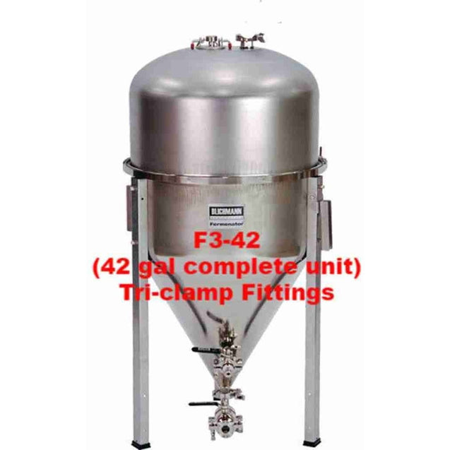 Fermenator Conical - Tri-Clamp Fittings F3-42 (42 Gal Complete Unit) - Tri-Clamp Fittings Blichmann Engineering