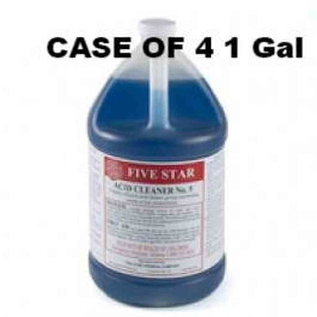 Five Star Acid Cleaner #5 1 Gallon Case Of 4 Gallons Misc Five Star Chemicals