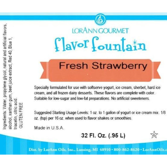 Fresh Strawberry By Lorann Flavor Fountain Spices And Flavorings