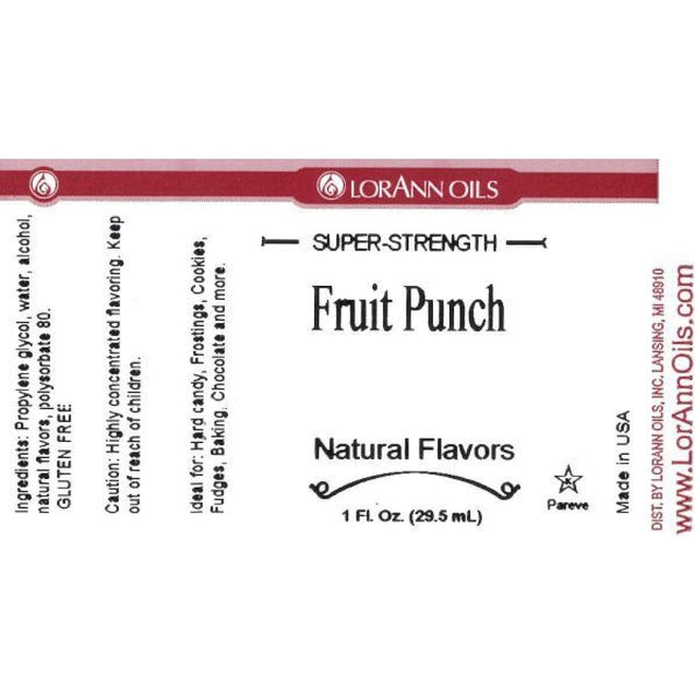 Fruit Punch Flavor By Lorann Flavor Oils Spices And Flavorings