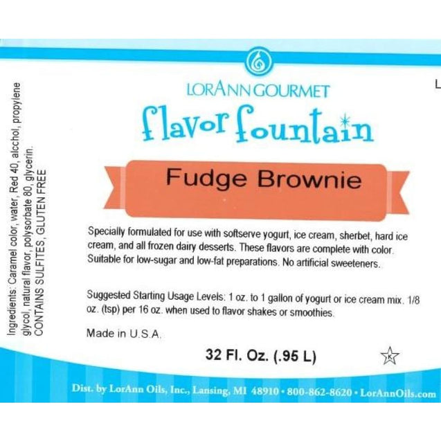 Fudge Brownie By Lorann Flavor Fountain Spices And Flavorings