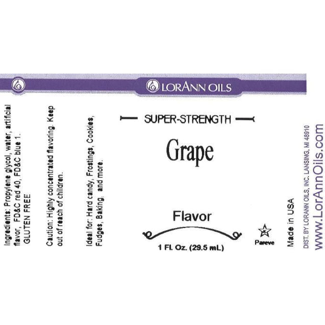 Grape Flavor By Lorann Flavor Oils Spices And Flavorings