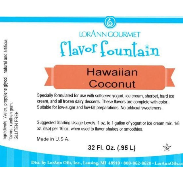 Hawaiian Coconut By Lorann Flavor Fountain Spices And Flavorings