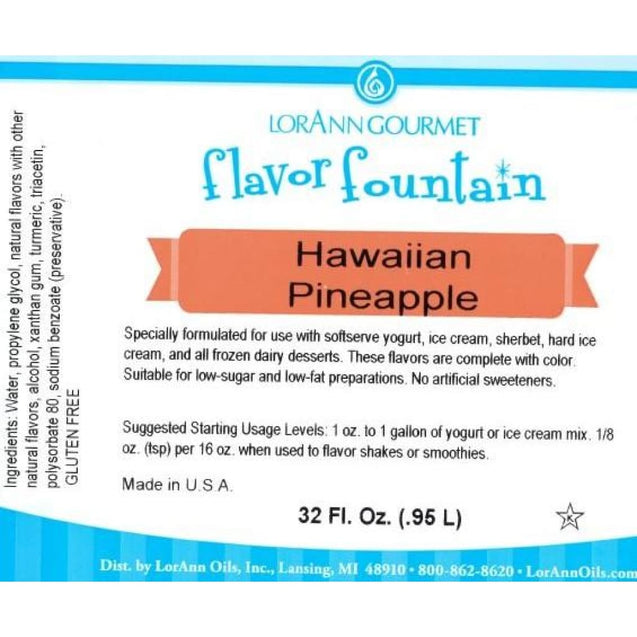 Hawaiian Pineapple By Lorann Flavor Fountain Spices And Flavorings