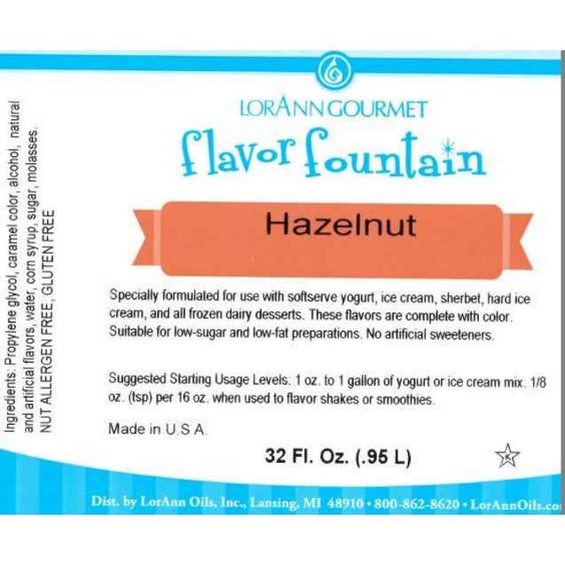 Hazelnut By Lorann Flavor Fountain Spices And Flavorings