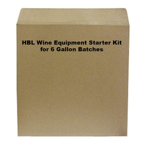 Hbl Wine Equipment Starter Kit For 6 Gallon Batches Wine Equipment Kits
