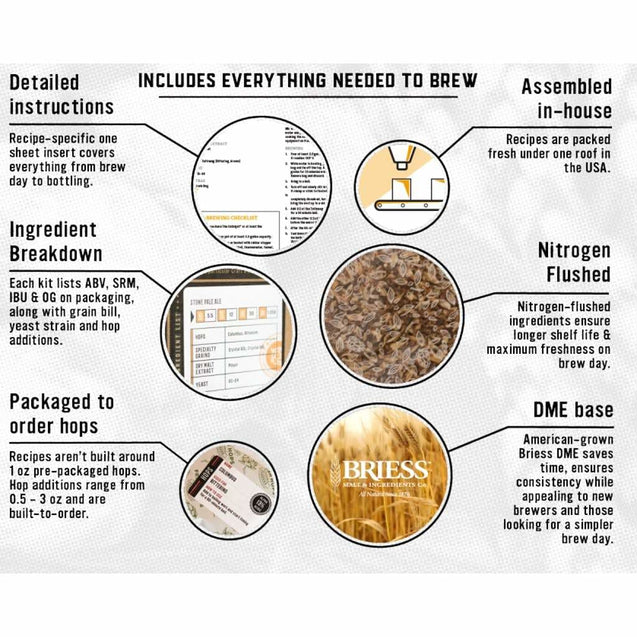 Hefeweizen Ale Homebrew Ingredient Kit (5 Gallon) Beer Ingredient Kits