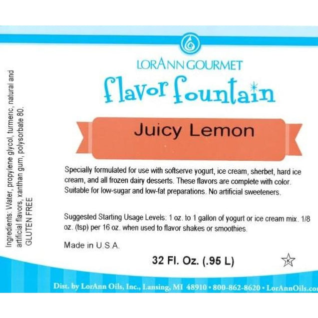 Juicy Lemon By Lorann Flavor Fountain Spices And Flavorings