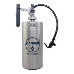 Mancan Mini Keg Growler Serving System (Stainless Steel) - 128 Oz. Flex Growlers