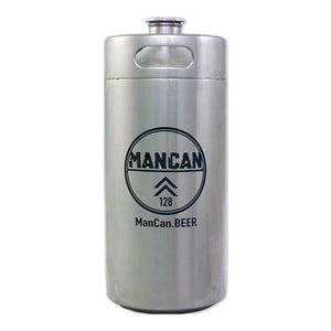 Mancan Mini Keg Growler (Stainless Steel) - 128 Oz Growlers