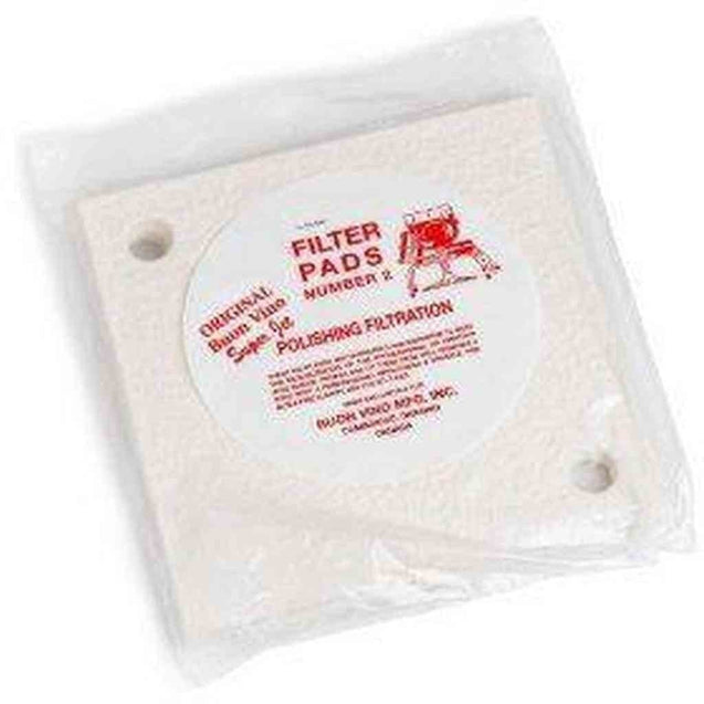 Mini Jet Filter Pads #2 Polish 1.8 - 2.5 Micron 1 Set Of 3 Filters And Pads