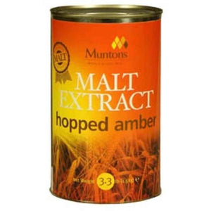 Muntons Hopped Amber Single Can (3.3 Lb.) Muntons Hopped Extracts