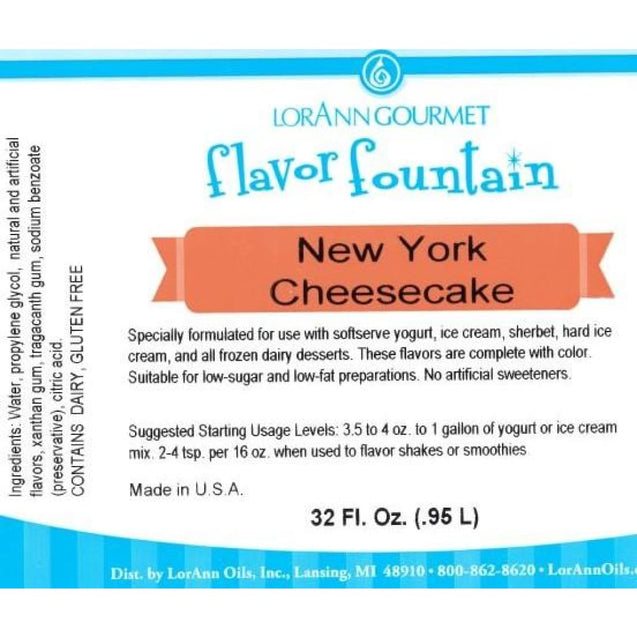 New York Cheesecake By Lorann Flavor Fountain Spices And Flavorings