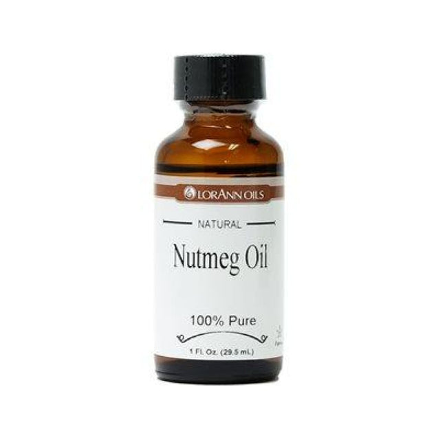 Nutmeg Oil Natural Flavor By Lorann Flavor Oils 1 Oz Spices And Flavorings