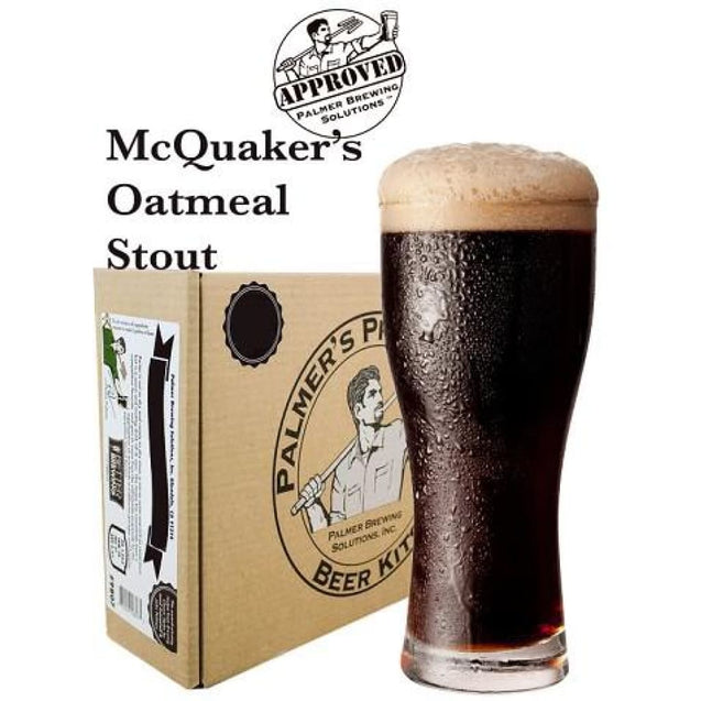 Oatmeal Stout Palmer Premium Beer Kits - Mcquakers Beer Ingredient Kits