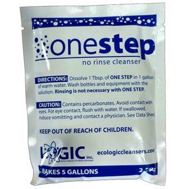 One Step Cleanser No-Rinse Cleanser 2.5 Oz Package Sanitation & Cleaning